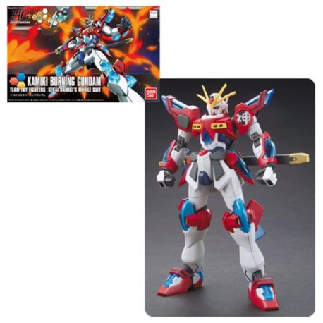 Gundam- Build Fighters Kamiki Burning Gundam High Grade 1.144 Scale Model Kit
